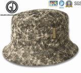 Sombrero de color caqui del compartimiento del algodón de la corona inferior profesional con insignia modificada para requisitos particulares