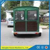 Ys-Fw450 4.5m de Bruine Mobiele Box van de Hamburger van de Aanhangwagen van de Keuken Mobiele