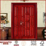 Residencial entrada Fornt pequeña gran Puerta de madera sólida (GSP1-013)