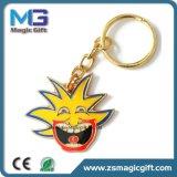 Trousseau de clés drôle en métal de dessin animé de clown avec de l'or terminé