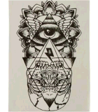 Etiqueta engomada temporal impermeable del tatuaje del tótem de la carrocería del brazo de la pierna del modelo de ojo