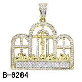 Nuovi orecchini, anello e pendente dell'argento dei monili di Hip Hop di arrivo