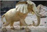 De Olifant van Polyresin, het Openlucht Decoratieve Beeldhouwwerk van de Hars