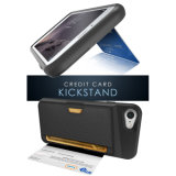 Высокий случай бумажника сторон TPU текстуры сжатия с карточкой Kickstand