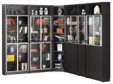 現代木の黒いカラーコーナーの本箱の高い拡張(I&D-7030F)