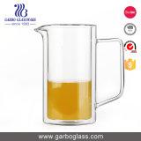 De Kruik van het Water van het Glas Pyrex van Elegent 660ml met Handvat en Deksel Wodden