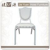 Presidenza di alluminio accatastabile bianca del caffè del ristorante (JY-L43)