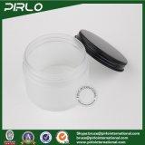 150g bereiftes Oberflächenplastiksahneglas mit Aluminiumüberwurfmutter-Plastikhaar-Signalformer-Schablonen-Glas-Plastikhaut-Sorgfalt-Sahne-Gläsern