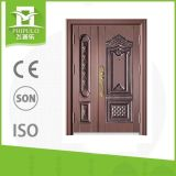 Puerta exterior del diseño seguridad única barata del bronce de la sola pequeña