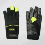 Микро- механик поставленный точки силиконом Glove-7217 ладони волокна