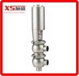Válvula de desvío neumática Sanitaria de acero inoxidable SS304