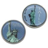 Signora stampata metallo Liberty Souvenir Challenge Coin