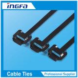 Cintas plásticas Releasable do aço Ss316 inoxidável para cabos da borda