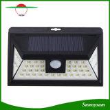 44 lâmpada de parede ao ar livre psta solar solar do caminho da noite da segurança da luz do jardim do diodo emissor de luz do sensor de movimento da luz PIR do diodo emissor de luz