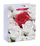 Blumen-Entwurf passen Firmenzeichen gedruckten Geschenk-kundenspezifischen Papierbeutel an