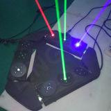 Laser móvil de la pista de la etapa DMX DJ de la araña con 9 pistas
