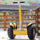 """Auto elétrico do """"trotinette"""" do pneu gordo da maçaroqueira do vento que balança o """"trotinette"""" elétrico"""