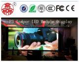Módulo interno 192mm*192mm da visualização óptica do diodo emissor de luz da cor P3 cheia