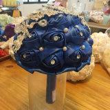 Ramo accesorio nupcial de los ramos de la boda del azul de marina con el Rhinestone