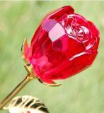 Flor de cristal de Rose como regalo de la vuelta de la boda
