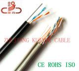 Cable de teléfono llenado del mensajero del alambre de gota 2pair China/cable del audio del conector de cable de la comunicación de cable de datos del cable del ordenador
