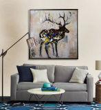 Het met de hand gemaakte Olieverfschilderij van het Canvas van de Kunst van de Muur van de Elanden van de Goederen van het Huis Dierlijke