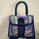 De Zak van de Schouder van de Ontwerper van de Handtassen van de Kleur van het Contrast van schooltassen voor Dames Sy7907