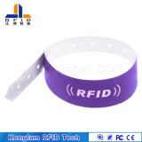Wristband de papel sintetizado modificado para requisitos particulares del color RFID para la gerencia de la prisión