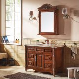 Gabinete rústico da vaidade do dobro da mobília do banheiro do estilo (GSP14-041)