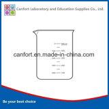 Vetreria da laboratorio Vetro di vetro borosilicato ad alta forma con labbro e graduazione