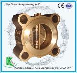Oblate/Öse-Doppelplatten-Schwingen-Rückschlagventil (H76) Ddcv federgelagert