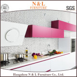 Le fini gris de laque de couleur à haute brillance Anti-Rayent le Module de cuisine