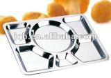 Heet-verkoop het Dienblad van het Snelle Voedsel van het Roestvrij staal van het Gebruik van de Veelzijdigheid