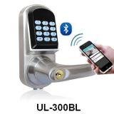 Bloqueo de puerta elegante de la huella digital de la aleación del cinc del clave biométrico de la palabra de paso con el telclado numérico del tacto del dedo (UL-880)