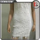 Платье Tassels прибытия горячего способа платья лета женщин шнурка надувательства новое с ювелирными изделиями металла