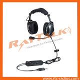 탄소 섬유 Anr Bluetooth 항공 헤드폰