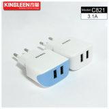 Vente chaude intelligente duelle du chargeur 5V3.1A de micro de Kingleen C821/batterie de l'iPhone USB