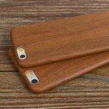Revêtement brillant en bois naturel Grain PU Étui pour téléphone portable