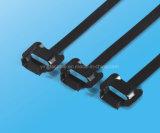 Largeur libérable enduite d'époxyde 10mm de serre-câble d'acier inoxydable de réutilisation
