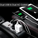 De Omschakelaar 12V gelijkstroom van de Macht van de auto aan 220V AC de Adapter van de Convertor met AC van de Lader USB van de Aansteker Dubbele Afzet