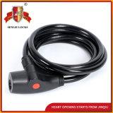 Jq8206-Qの高品質の機密保護の螺線形ケーブルロックの自転車ロック