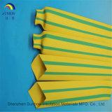 Tubo dello Shrink di calore del PE di verde giallo per i contrassegni del cavo/tubo ottico dello Shrink di calore della fibra