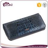 Бумажник для женщин, бумажник Cowhide высокого качества многофункциональный застежка-молнии кожаный