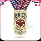 Médaille commémorative personnalisée à manches courtes et course à pied Marathon Sport Medal