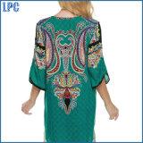 Lange Overhemd van de Vrouwen van het Af:drukken van de Was van Ployester het In te ademen Nationale