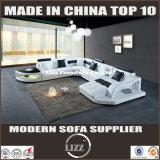 Base nova do sofá da mobília da sala de visitas da forma de 2017 U (LZ 2217)