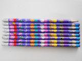 Crayon rond de crayon de crayon d'HB de crayon de rétrécissement avec le crayon d'élève de gomme à effacer