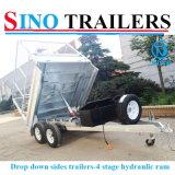 Galvanizado 10X5 Tandem 2 Ton Hidráulica Tipper Tipping Plant Box Trailer & Cage