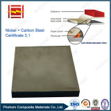 Placa de acero del revestimiento de Monel de la fábrica de China para el recipiente del reactor con tecnología de la soldadura explosiva