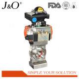 Válvula de borboleta pneumática sanitária com Positioner